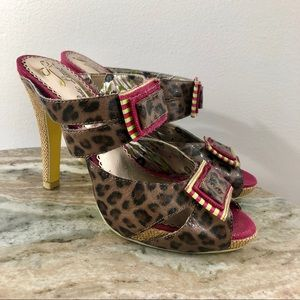 Poetic License Heels size 37 Leopard Leather